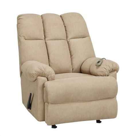 tan recliner padded massage recliner in tan 75 3mt