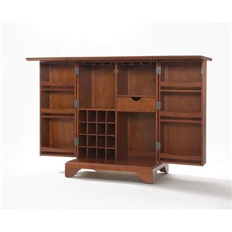 crosley furniture lafayette expandable home bar cabinet in