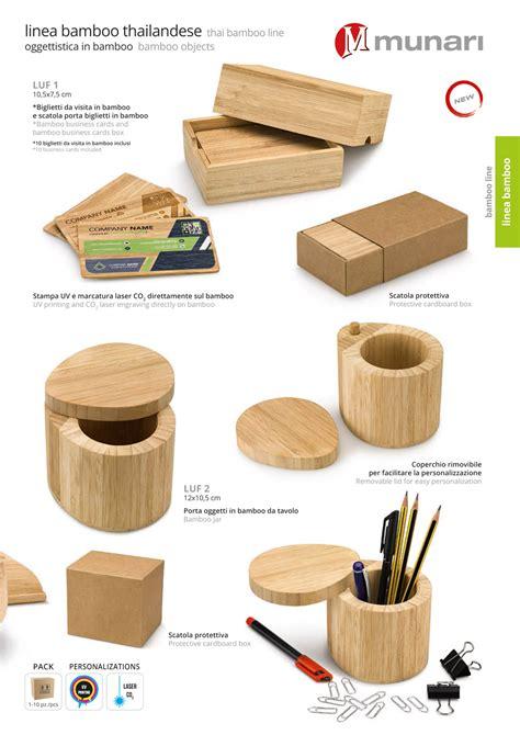 oggetti da ufficio porta oggetti da tavolo in bamboo personalizzabili linea