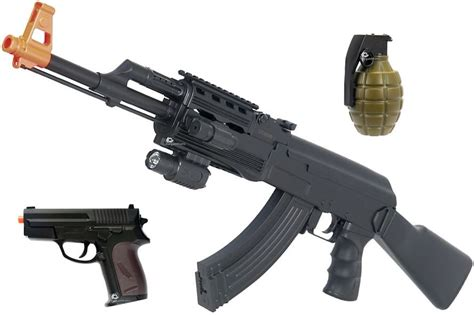 ak 47 laser light combo ak 47 tactical airsoft aeg electric gun w pistol bb