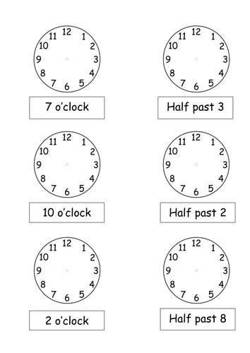 o clock and half past times by pickup01 teaching