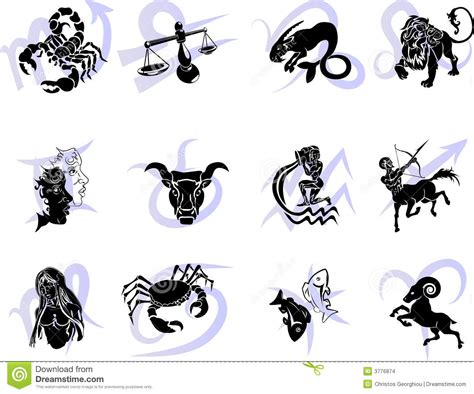 zodiac tattoo prices horoscope birth zodiac star signs stock vector