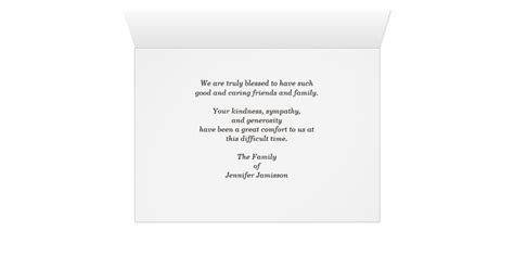 Thank You Letter For A Donation In Memory Of Someone Thank You For The Memorial Donation Teal Card Zazzle