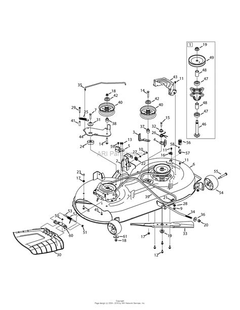 mtd yard machine parts diagram mtd 13a2775s000 2015 parts diagram for mower deck 42 inch