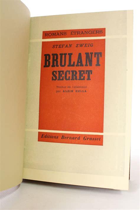 secret edition zweig br 251 lant secret edition originale edition