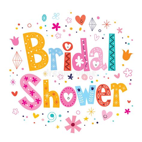 bridal shower images bridal shower card lettering decorative type design stock