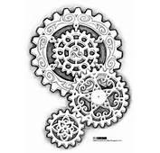 Steampunk Gears Tattoo Design