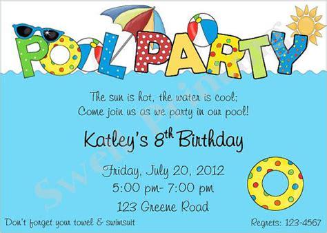 swimming pool invitations templates pool invitation pool birthday invitation swimming