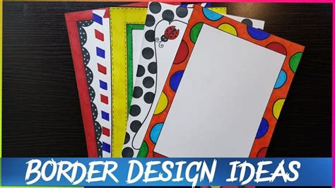 easy page border designs  assignment