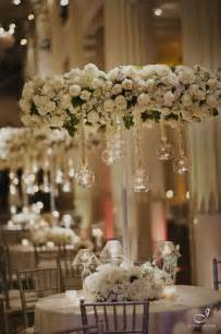 Wedding Chandelier White Floral Chandelier Centerpieces Flower
