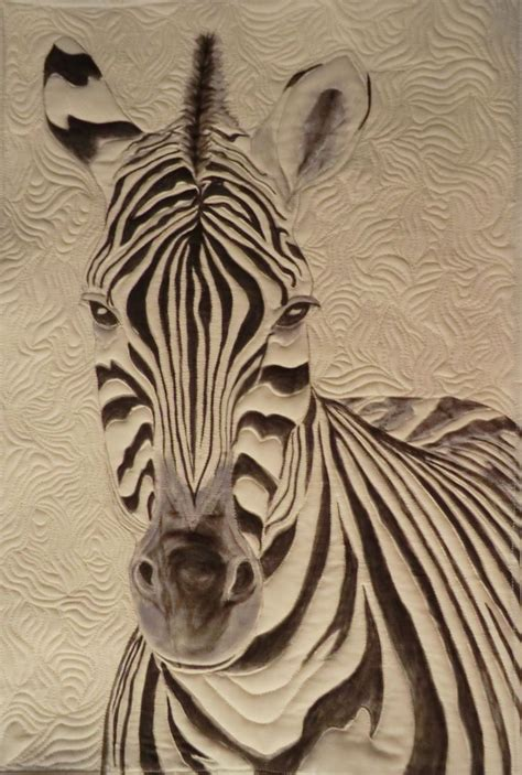 Quilt Pattern Zebra | original pattern zebra quilt using tsukineko fabric inks