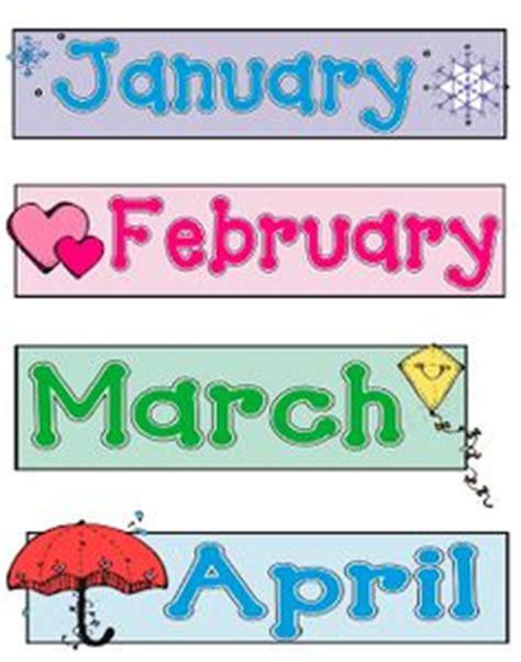 printable month tags free printable calendar headers months calendar template