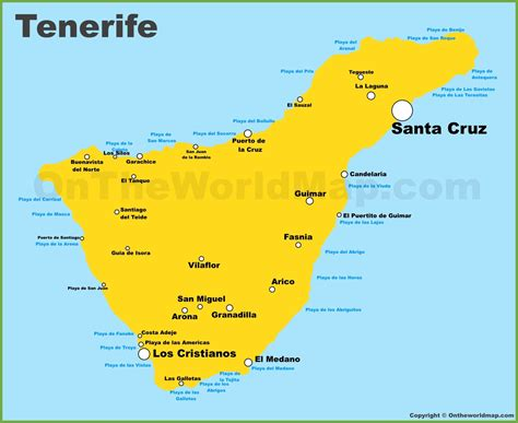 map of canary islands tenerife maps canary islands spain map of tenerife