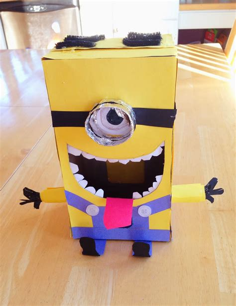 how to make a minion valentines day box s arts and crafts corner diy craft project yes