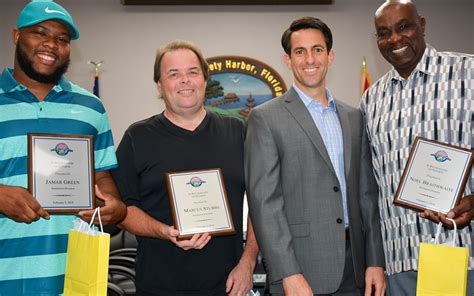joe ayoub safety harbor three safety harbor sanitation workers recognized for