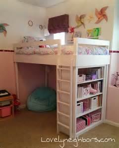 Diy loft bed for my lovely little girl lovely neighbors