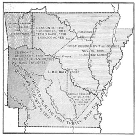 american tribes arkansas map quapaw indians franawiki