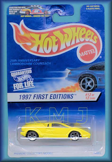 Hotwheels Lamborghini Countach 25th Anniversary 25th anniv lamborghini countach model cars hobbydb