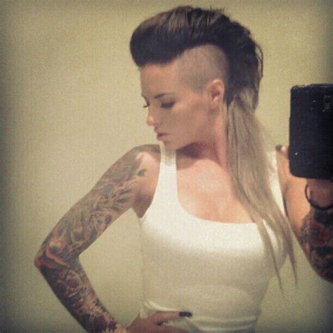 christy mack cuts her hair 20 best christy mack images on pinterest tattooed girls