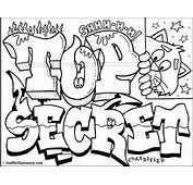 Top Secret Graffiti  Free Printables Coloring Book