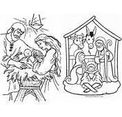 Dibujos De Pesebres Para Colorear El Nacimiento Del Ni O Dios