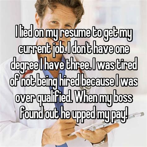 I Lied On My Resume And Got Away With It