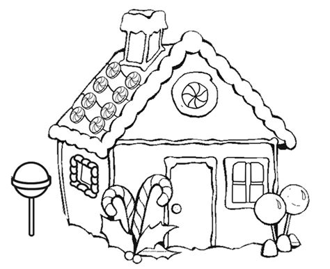 decorated house coloring pages gingerbread house coloring pages with lollipop coloringstar
