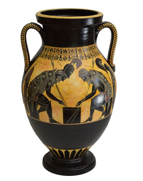antico vaso greco achilles and ajax exekias ancient hora vase