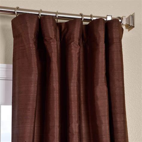 Chocolate Silk Curtains Half Price Drapes
