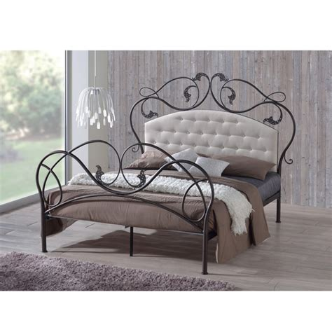 Reasonably Priced Headboards Goddard Tufted Microfiber Upholstered Metal Platform Bed