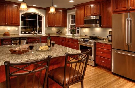 new counters new venetian gold granite red oak flooring archives