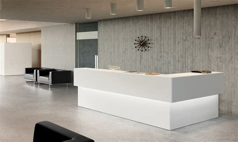 Modern Reception Desk Design New Lobby And Front Desk We Install Construction Management