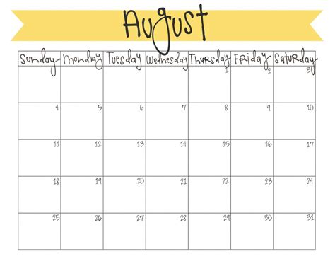 august 2014 calendar template 6 best images of free printable august calendar free