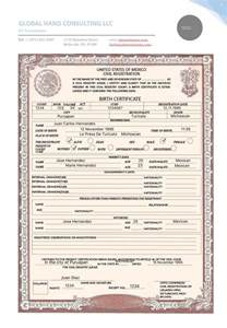 translation of mexican birth certificate to template 17 best images about translation services at