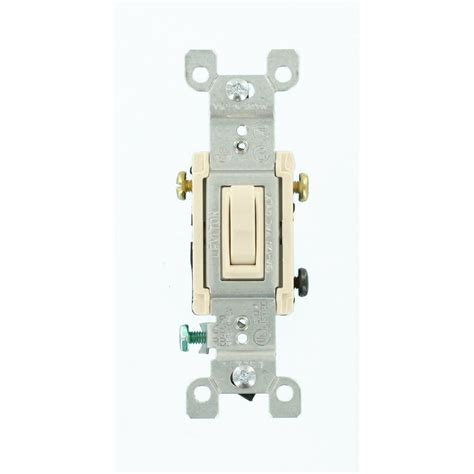 leviton electrical switches leviton 15 3 way toggle switch light almond r56 01453 02t the home depot