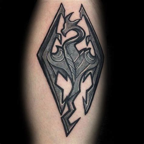 skyrim tattoo 50 skyrim designs for ink ideas
