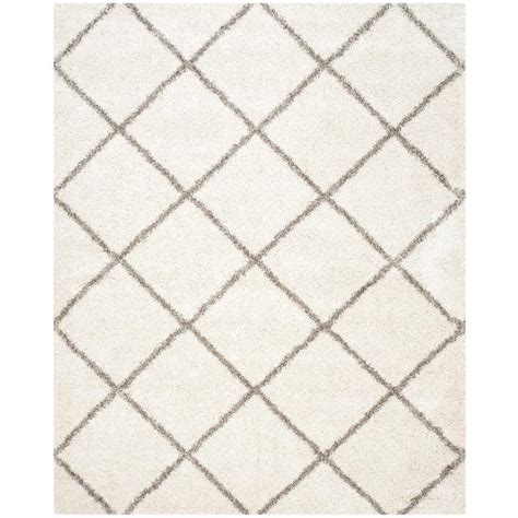 8 X 10 Ft Area Rugs Safavieh Hudson Shag Ivory Gray 8 Ft X 10 Ft Area Rug Sgh281a 8 The Home Depot