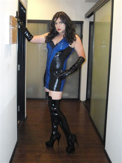 fat crossdresser flickr in boots latex dress with thigh high boots 01 briget flickr