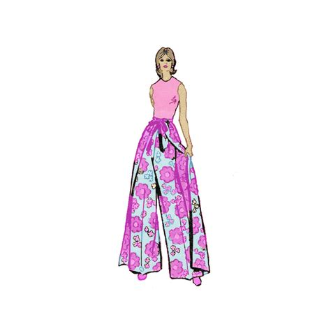 sewing pattern palazzo pants 1970s misses wrap palazzo pants sewing pattern one by