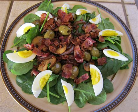 easy salad easy summer salads series spinach salad with warm bacon