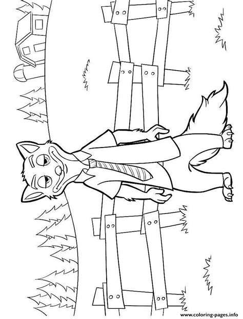 Zootopia Nick Wilde Coloring Page Printable Coloring Home Kids Colouring Pages Free L