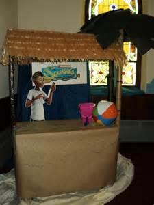 Table Top Tiki Bar Hut by Tiki Hut For Island Theme Using A Gardening Table