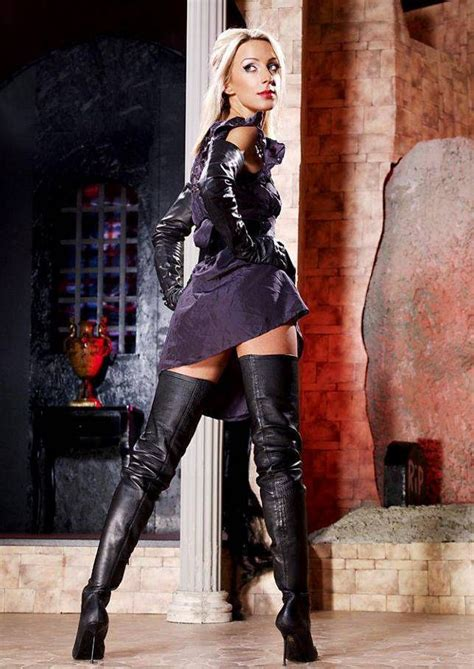 thigh high boots and gloves boots i high