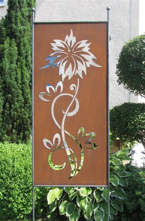 Garten Deko Metall Sichtschutz by Lilie