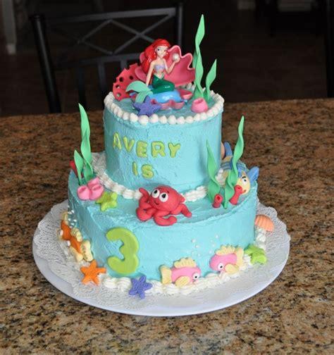 Ariel Birthday Cake Decorations by The Mermaid Birthday Cake Fondant Birthday