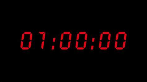aftellende klok digital countdown clock 1 hour 4k youtube