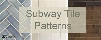 subway tile patterns pattern guide herringbone