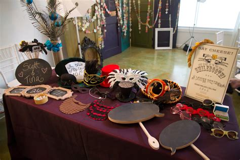 the prop table for the photo booth glen vigus