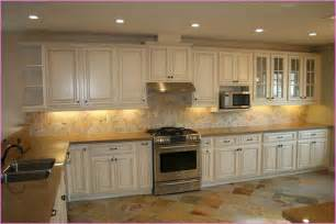 Distressed White Kitchen Cabinets by Distressed Off White Kitchen Cabinets Home Design Ideas