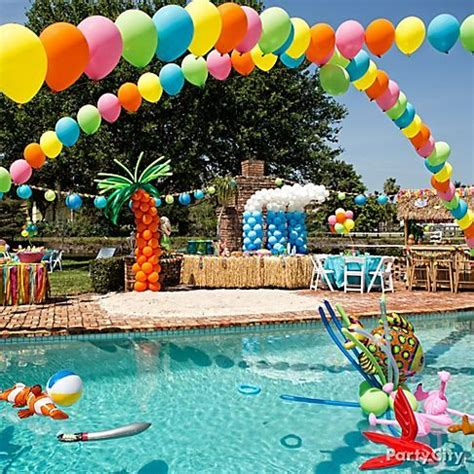 pool theme decorations pool decorating ideas decozilla